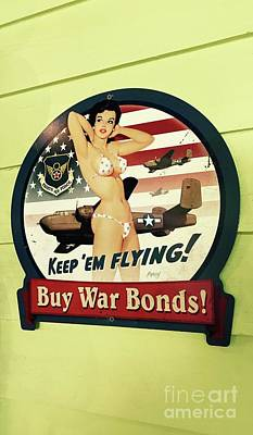 Photograph - War Bond Pin Up by Michael Krek