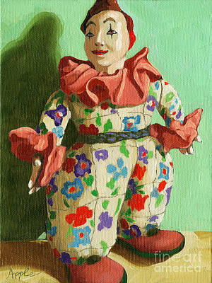 Painting - War Clown- Still Life Oil Painting by Linda Apple