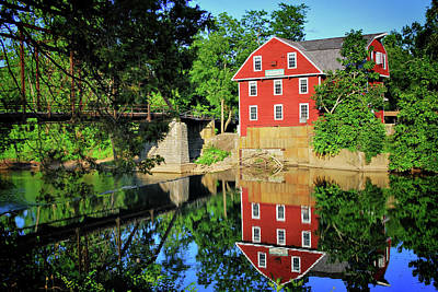 War Eagle Mill And Bridge - Arkansas Art Print