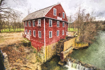 Painting - War Eagle Mill by Joe Sparks