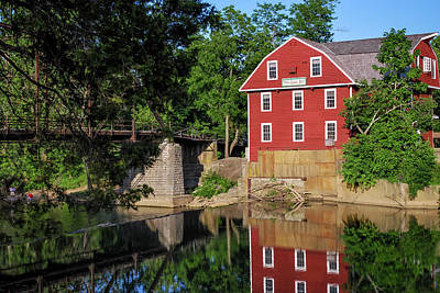 Old Mills Photograph - War Eagle Mill Perfect Reflection - Northwest Arkansas by Gregory Ballos