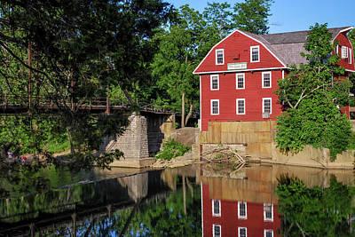 War Eagle Mill Perfect Reflection - Northwest Arkansas Art Print