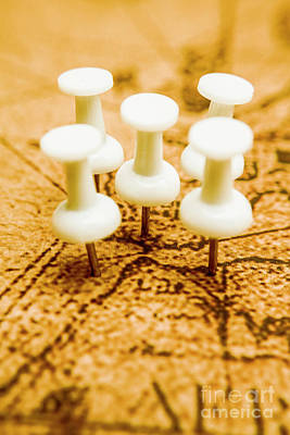 Old Map Photograph - War Game Tactics by Jorgo Photography - Wall Art Gallery