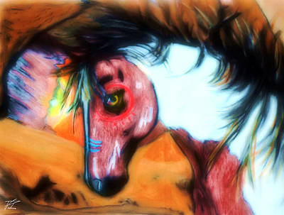 War Paint Horse Original by Ayasha Loya