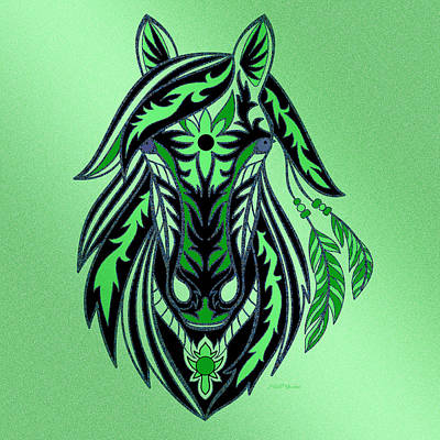 Shower Head Digital Art - War Horse 2 by Ericamaxine Price