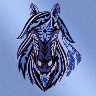 Shower Head Digital Art - War Horse 3 by Ericamaxine Price