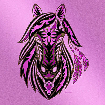 Shower Head Digital Art - War Horse by Ericamaxine Price