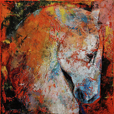 Cheval Painting - War Horse by Michael Creese