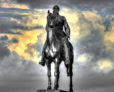 Photograph - War Horses - Clouds Of War - Maj Gen George Gordon Meade Commander Army Of The Potomac Gettysburg by Michael Mazaika