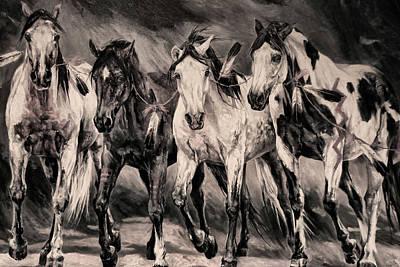 War Horses Art Print