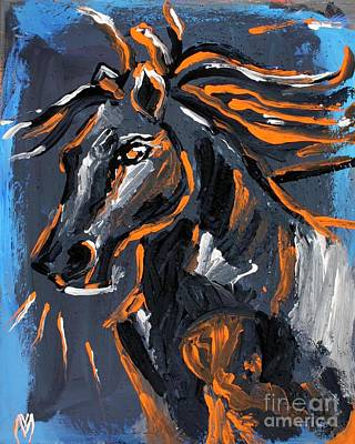 Equine Painting - War Lord - Horse Art By Valentina Miletic by Valentina Miletic