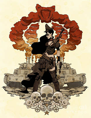 Pinups Photograph - War Maiden by Brian Kesinger