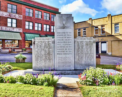 Photograph - War Memorial - Christiansburg Virginia by Kerri Farley