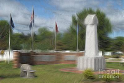 Veterans Day Mixed Media - War Memorial Heath Springs Sc by Bob Pardue