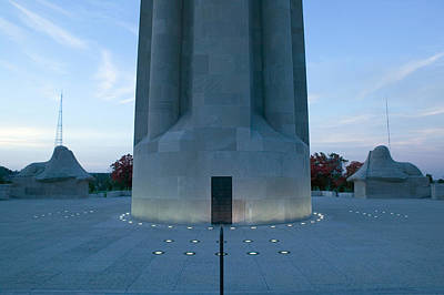 Liberty Memorial Photograph - War Memorial Lit Up A Dawn, Liberty by Panoramic Images