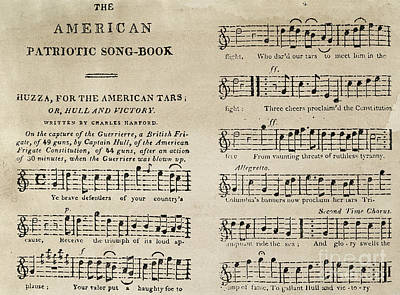 Uss Constitution Photograph - War Of 1812: Songbook by Granger