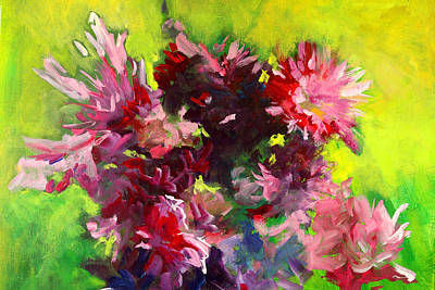 Painting - War Of The Roses by Nancy Merkle