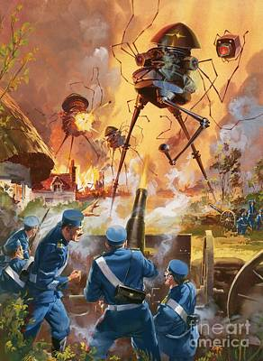 Cannons Painting - War Of The Worlds by Barrie Linklater