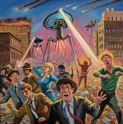 Disintegrate Painting - War Of The Worlds by Jack Tzekov