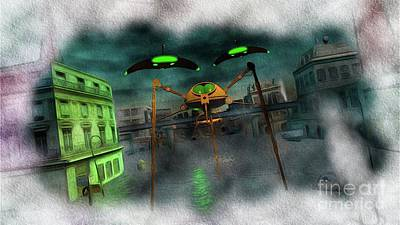 Science Fiction Royalty-Free and Rights-Managed Images - War of the Worlds Part 1 by Raphael Terra