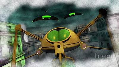 Science Fiction Royalty-Free and Rights-Managed Images - War of the Worlds Part 2 by Raphael Terra