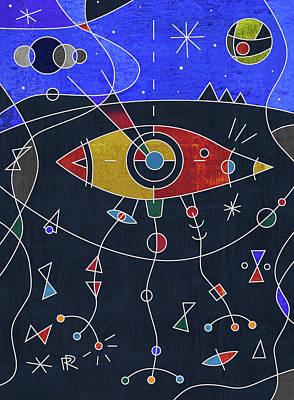 Miro Digital Art - War Of The Worlds by Russell Pierce