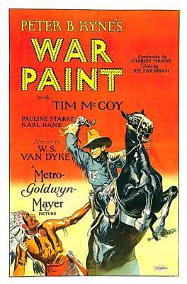 War Paint 1926 Art Print by Mountain Dreams