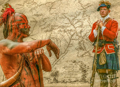 War Paths French And Indian War Art Print by Randy Steele