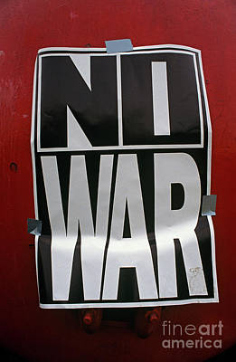 Against The War Photograph - War Poster 1991 Seattle  by Jim Corwin