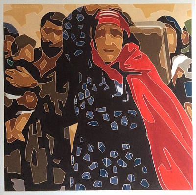 Painting - War Refugees by Varvara Stylidou