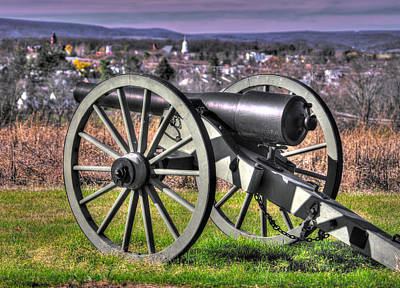 Photograph - War Thunder - Investing The Town - Rockbridge, Va Artillery On Benner's Hill - Gettysburg by Michael Mazaika