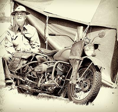 Photograph - War Time Harley Davidson by Steve McKinzie