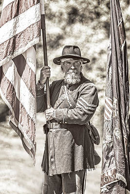 Photograph - War Torn Flag Bearer by Wes and Dotty Weber