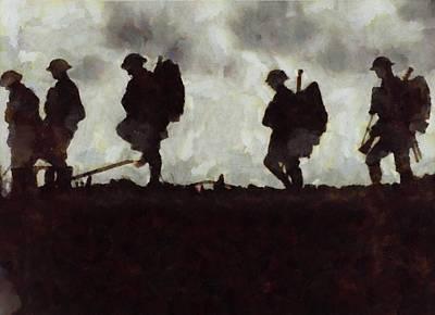 Wwi Painting - War Walk by Esoterica Art Agency