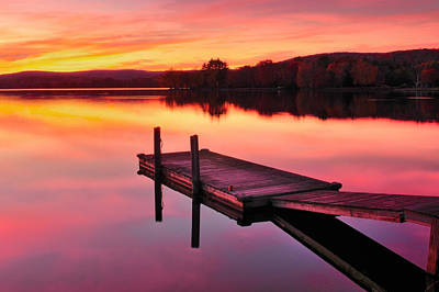 Waramaug Sunset Art Print by Thomas Schoeller