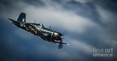 Propeller Photograph - Warbird On Clouds by Karim Hussain
