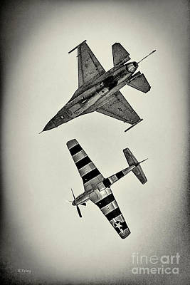 Photograph - Warbirds The Old And The New by Rene Triay Photography
