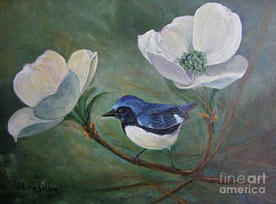 Warbler Bliss Original by JoAnne Helfert Sullam