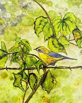 Painting - Warbler by Jan Killian