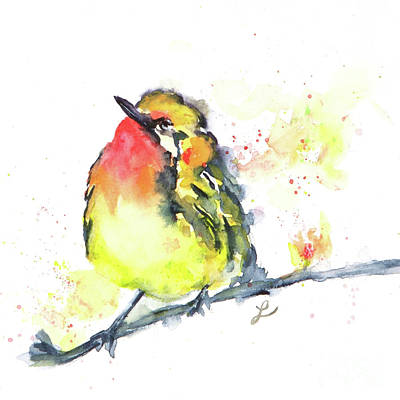Painting - Warbler by Lynne Furrer
