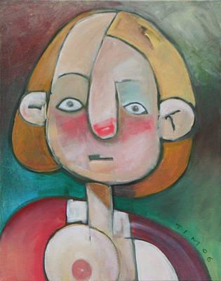 Whimsical Painting - Wardrobe Malfunction by Tim Nyberg