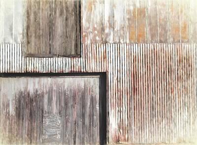 Rust Art Mixed Media - Warehouse Abstract by Richard Rizzo