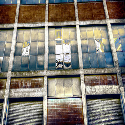 Photograph - Warehouse Wall by Wayne Sherriff