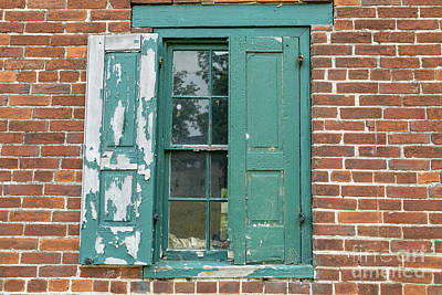 Photograph - Warehouse Window With Shutter by George Sheldon