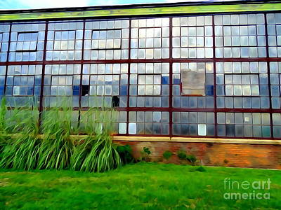 Digital Art - Warehouse Windows by Ed Weidman