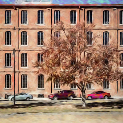 Photograph - Warehouse With Tree by Wade Brooks