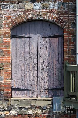 Warehouse Wooden Door Art Print by Thomas Marchessault