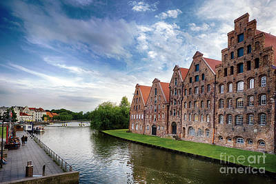 Lubeck Photograph - Warehouses Of Old Town Lubeck by George Oze