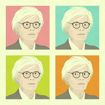 Warhol Digital Art - Warhol by Jazzberry Blue