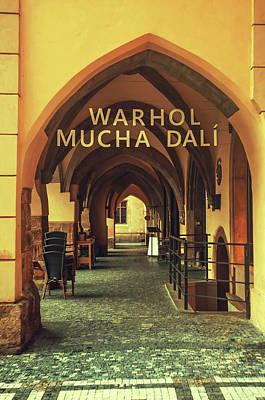 Photograph - Warhol Mucha Dali. Series Golden Prague by Jenny Rainbow
